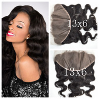 Wholesale Peruvian Frontal - Peruvian Body Wave Lace Frontal Closure 13x6 From Ear To Ear 100% Unprocessed Human Hair Cheap Lace Frontals Free Part G-EASY
