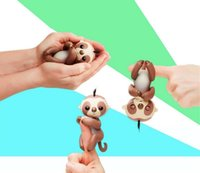 Fingerling Sloths Fingers Squirrel Electronic Smart Touch Sloth interactivo creativo Intellegent juguete del dedo del bebé mordaza fiesta de Navidad