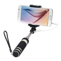 Wholesale carbon fiber selfie monopod for sale - New cm Monopod Audio Cable Wired Selfie Stick Extendable Sefie Monopod for iPhone IOS for Samsung Android