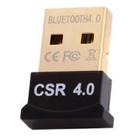 Wholesale Bluetooth Adaptors - Mini All in one USB 2.0 CSR 4.0 Bluetooth 4.0 Adaptor Dongle for PC notebook printer Digital camera smartphone tablet
