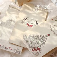 Wholesale Christmas Gift Packs Sale - Gift Packing Bag Retro Atmosphere Lovely Baking Christmas Candy Paper Bags Kraft Paper Material Hot Sale 0 9sp J
