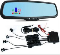 special assistance - 4 Sensors Color Car LED Mirror Parking Assistance Backup Radar Sensor Special Blue Rearview Mirror Monitor With Bracket