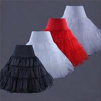 Wholesale Tea Length Underskirt - New Arrivals Tea Length Short Knee Swing Skirt Prom Silps Crinoline Bridal Petticoat Underskirt ballerina skirt WS003