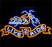 Hot LIVE 2 RIDE Letrero de neón de la motocicleta Commercial Custom Store Motel Hotel Juego deportivo Motor Bike Advertisement Neon Signs 32