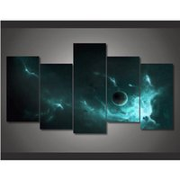 More Panel outer space pictures - New Outer Space Landscape Canvas Printing Wall Art Home Decoration Unframed Oil Painting For Living Room
