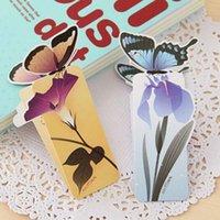 ingrosso carte a forma di farfalla-20Pcs / Lot Vintage Forma di farfalla Clip di carta Clip di segnalibro Cancelleria Forniture per ufficio Clip Memo Segnalibri simpatico cartone animato Papelaria