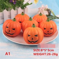 Wholesale Head Phones Charms - Halloween pumpkin head Rainbow Slow Rising Squishy Rainbow sweetmeats ice cream cake bread Strawberry Bread Charm Phone Straps Soft Fruit
