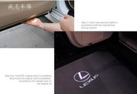 2 pz CREE car door light ghost shadow welcome light logo cortesia proiettore laser emblema Per LEXUS RX LS ES LX GS GX IS