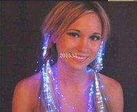 Hot vente incroyable prix pas cher flash LED Hair Braid Novelty Hairpin Décoration LUMIERE UP For Show Party 600pieces expédition libre