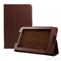 Novo leechee Fio Folio Leather Stand Case Cover para 7inch Lenovo IdeaTab A7-50 A3500 Tablet PC cover Magnetic bag
