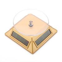 présentoir rotatif à affichage solaire achat en gros de-Présentoir solaire, énergie solaire, rotation à 360 degrés, rotation de la plaque tournante solaire pour téléphones mobiles montre des bijoux mp4