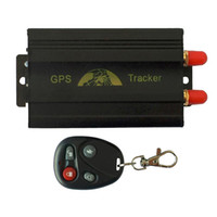 Wholesale gps online online - GPS103B TK103B Vehicle Car GPS Tracker Quad Band Realtime Positioning GPS GSM GPRS Circuit With Remote Control Online Alarm System