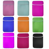 Wholesale Waterproof Tablet Case Neoprene - Soft Neoprene Laptop Liner Sleeve Bag Waterproof Case Bag for 7 8 9 10 Inch IPAD Huawei Samsung Tablet PC Liner Handbag