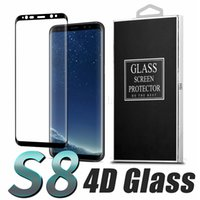 Wholesale Note8 S8 Tempered Glass Film For Samsung Galaxy S8 S8 Plus S7 S6 Note D Curved Full Cover Tempered Glass Phone Screen Protector Film