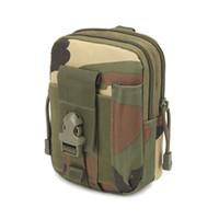 cremallera billetera militar al por mayor-Universal al aire libre Tactical Holster Militar MOLLE Hip Cintura Cinturón Bag Wallet Pouch Monedero caja del teléfono con cremallera para iPhone / LG / HTC