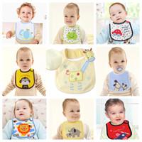 Wholesale Cheapest Burp Cloths - Hot Sale Cheapest Baby Bib Pinafore 3 Layers Waterproof Bib Newborn Burp Cloth Saliva Towels Top Quality