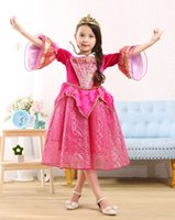 Wholesale wholesale special occasion dresses - 2017 New Princess Aurora Cosplay Costumes Dresses Girl Special Occasions Dress Children Kids Hallowmas Christmas Costumes Show Party Dress