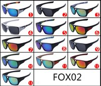 Wholesale Fox Sunglasses Men - 2015 fashion FOX-THE REMIT sunglasses Dazzle colour FOX conjoined lens big frame Sunglasses FOX02