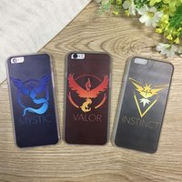 Wholesale Iphone Team Cases - Poke Go Pocket Phone Case For Iphone6 6S 6plus 5S 5SE 5 Team Valor Team Mystic Team Instinct TPU Case 3 Style SZ-C25