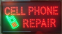 Wholesale New arriving Ultra Bright LED Neon Sign CELL PHONE REPAIR Animated CELL PHONE REPAIR Neon Signs Led neon sign billboard
