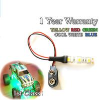 Model Railway LED Light Scenery 5050 LED Strips 9V PP3 12V Warm White Blue  Red Green CAR TRUCK UNDERBODY Dolls House LED Lamp 10CM 30CM 60CM