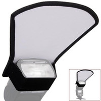 Wholesale Universal Flash Diffuser Softbox Silver White Reflector for Canon Nikon Pentax Yongnuo Speedlite