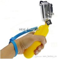 Wholesale Gopro Accessories Bobber Float Mount Stabilizer Handheld Monopod Stick With Hand Grip Screw for Gopro Hero3 Hero2 Camera Yellow