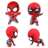 Wholesale Bobble Man - Spider-Man Homecoming Action Figures Squatting Crawling Bobble Head PVC Action Figure Collectors Set Collectible Figure Gift Toys