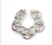Wholesale Nipple Charms - D0583 Pink colors styl nipple ring belly ring style hand style nipple Rings Body Piercing Jewelry Dangle Accessories Fashion Charm 10PCS