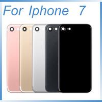 iphone milieu couverture arrière achat en gros de-Pour iphone 7 7plus, couvercle de la batterie arrière, boîtier de la porte arrière, boîtier central, boîtier arrière pour Apple iPhone 7.