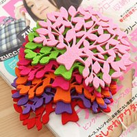 Wholesale glass coasters free shipping resale online - Tree Shaped Colorful Felt Coaster Cup Mat Pad for Bowl Mug Glass Plate Drink Accessories Hot
