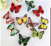 Wholesale Wholesale Fiber Optics Party Decorations - Wholesale Colorful Fiber Optic Butterfly Nightlight 1W LED Butterfly For Wedding Room Night Light Party Decoration