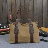 Wholesale Shoulder Handbag Casual Male Bags - Factory direct brand bag retro portable canvas Korean male Bag Canvas Handbag trend simple computer outdoor leisure men single shoulder bag