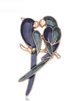 Wholesale Parrot Accessories - 2016 New Fashion Parrot style Brooch Wedding Bridal Accessories Alloy Material Bridal suit buckle pin brooches