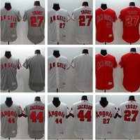 Wholesale Anaheim Angels Jersey Xxl - mens 2017 Los Angels 27 Mike Trout Jersey Flexbase LA Angels 44 Reggie Jackson Baseball Jerseys Coll Base of Anaheim White Pullover Red