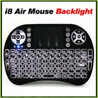 Wholesale Mini Rii I8 Air Mouse With BlackLight Remote Fly Air Mouse GHz Bluetooth Keyboard Touchpad For MXQ M8S TV Box