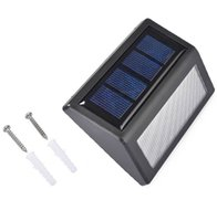 Wholesale Outdoor Solar Led Step Light - LED Solar Light 6 Leds Waterproof Solar Step Light Led Flood Lights Garden Lamp Outdoor Landscape Lawn Light Solar Wall lamps Solar Lighting