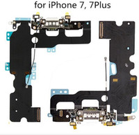 Wholesale cable parts accessories - New USB Charger Charging Connector Dock Port Flex Cable Replacement for iPhone7 For iPhone Plus Plus Phone Accessories Parts
