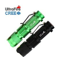 Venda a quente, MINI ZOOMABLE 7W CREE Q5 LED 300 Lumen 3 modo 1X AA 14500 Lanterna Torch Zoom Lamp Light (verde ou preto)