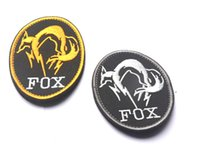 Canvas black metal groups - VP High quality Black Metal Gear Solid MGS FOX HOUND Special Force Group Ghost D Embroidered patches armband badge