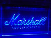 Wholesale Red White Blue Guitars - LL168b- Marshall Guitars Bass Amplifier LED Neon Light Sign