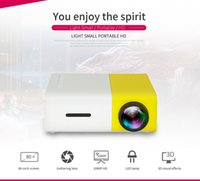 Wholesale Hdmi Pocket Projector Wholesale - 3PCS Mini Portable YG300 Home LED Projector HDMI USB CinemaTheater Beamer Multimedia Proyector Game Pocket Projector 3.5mm Audio
