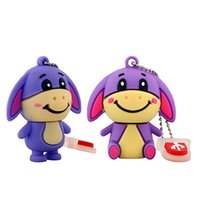 Cartoon Silicon Cute Animal Donkey USB Disk 8GB 16GB USB Flash Drive 2GB 1GB 4GB Memory Stick 100% Full Capacity