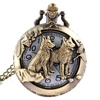 Wholesale Eiffel Tower Pocket Watch Necklace - Wholesale-Polish Quartz Men Antique Pocket Watch Bronze Eiffel Tower Quartz watch Necklace Vintage Pendant Chain Mens Womens Watch