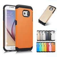 Wholesale Iphone 5s Bumpers - Hybrid Armor 2 in 1 Case Tough Hard Bumper Frame Back Skin Cases Cover for iPhone 5S 6S 7 8 Plus S7 edge S8 Plus