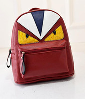 Wholesale School Bag Birds - Korean New Designer Unique Little Monster Backpack Women Cute Bird Face Backpack School Bags For Women