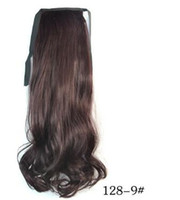Wholesale Curly Ponytail Black Hair - 2016 New Arrival 8 colors charming Sexy Lady long wavy extension hair Synthetic bundled Ponytail Colorful ponytail Brown Black