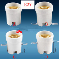 Wholesale Socket Ceramic - E27 Ceramic Lamp Holder   screw Light Lampholders Socket