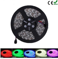 Wholesale Led Ribbon Blue - High Birght 5M 5050 3528 5630 Led Strips Light Warm White Red Green Blue RGB Flexible 5M Roll 300 Leds 12V outdoor Ribbon Waterproof