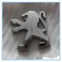 insignias peugeot al por mayor-Peugeot 206 o logotipo estándar cola cola estándar logotipo insignia insignia Logotipo de Peugeot emblema trasero insignia posterior